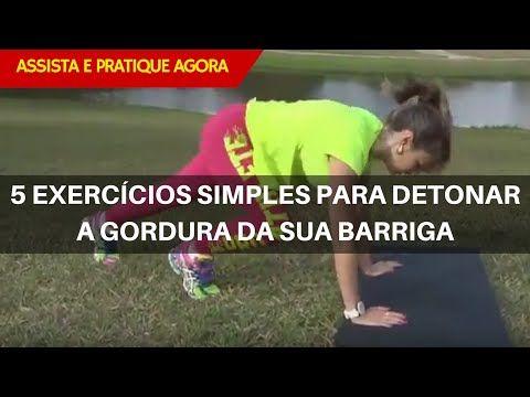 5 Exercícios Simples para Detonar a Gordura da Barriga - HIIT mais Pilates - YouTube