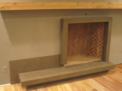 106 best images about fireplace ideas on pinterest for Concrete mantels and hearths
