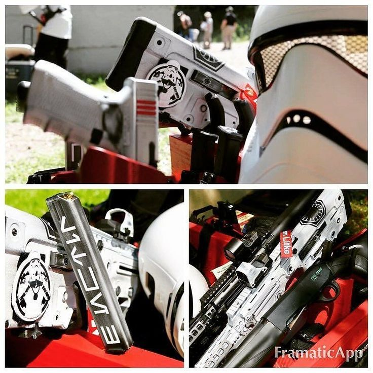 "Holster love from our shooter @adam_sasa ""Couple pictures from today's @starwars themed 3 Gun. The @iwi.il / @iwi.us X95 @holosunoptics  @gearheadworks short rail @geissele Lightning bow @lantac_usa Dragon and @anrdesignllc holster and pouches all worked great.  The @viktorslegacy Stormtrooper coating was the talk of the town."" #anrdesign  Alexandryandesign.com"