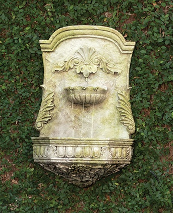 wall fountain from charleston gardens