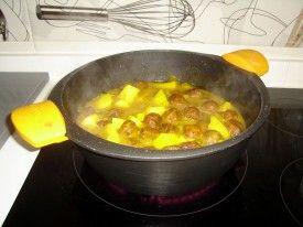 preparación 2, Albondigas con patatas