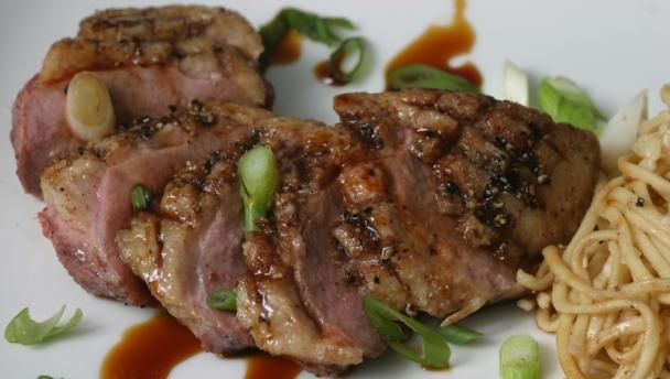 BBC Food - Recipes - Five-spice duck breasts with honey and soy