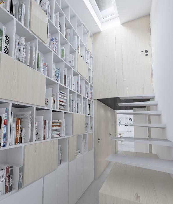Acesso ao sotão: Espaços de trabalho translation missing: pt.style.espaços-de-trabalho.minimalista por Varq.