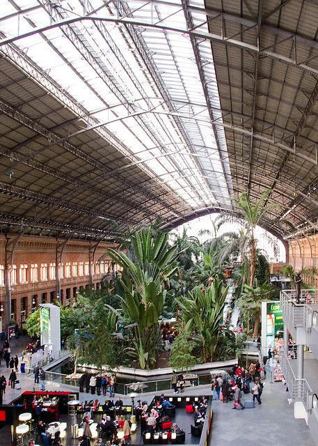 Atocha Train Station (Madrid, Spain). Relocating to Madrid? www.matrixrelocations.com