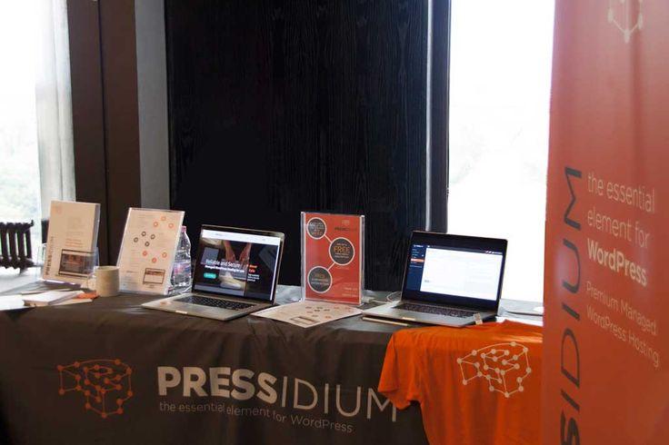 The Pressidium Booth at Word Camp EU 2014. Looking good!