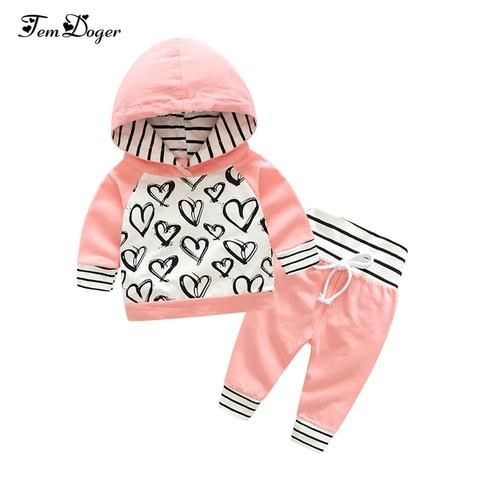cc38384d31d8 Tem Doge Baby Clothing Sets Spring Autumn New Newborn Baby Infant Girls  Clothes Long Sleeve 2PCS