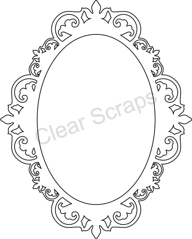 Medium Oval Fancy Frame