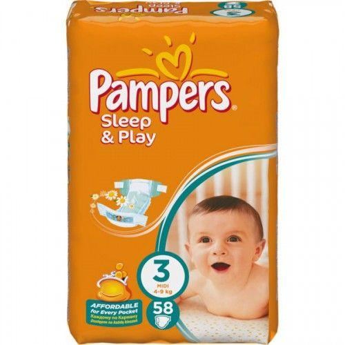 Pampers 3 Sleep & Play 58 ks  Plenky Pampers pro miminko levně! Doprava zdarma při objednání nad 1000 Kč!   https://babyplenky.cz/