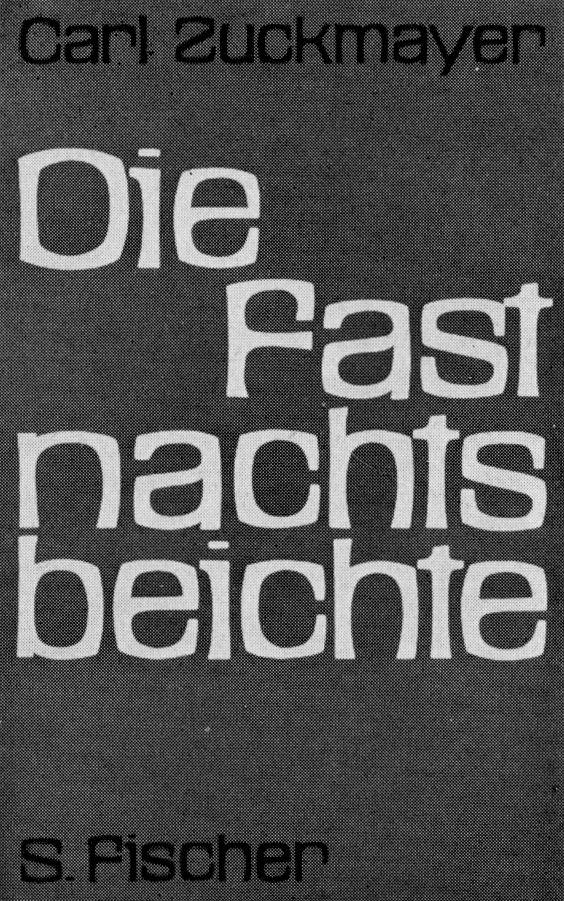 Sexauer (Walter, DE) Effert (Paul, DE) 1959 Zuckmayer - Die Fastnachtsbeichte (S. Fischer Verlag) Buchumschlag
