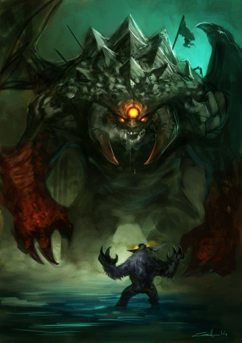 Ursa vs Roshan Dota Art