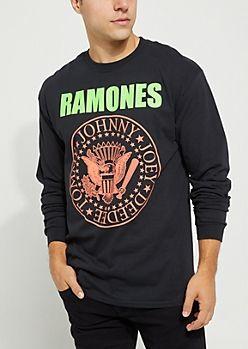 Ramones Logo Long Sleeve Tee