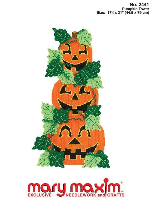 make this plastic canvas tower of pumpkins using our vintage pattern halloween canvashalloween pumpkinshalloween decorationshalloween