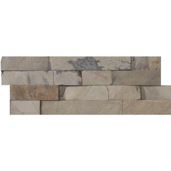 Taylor St. Fireplace - STACKED SLATE COLLECTION - Emser Tile