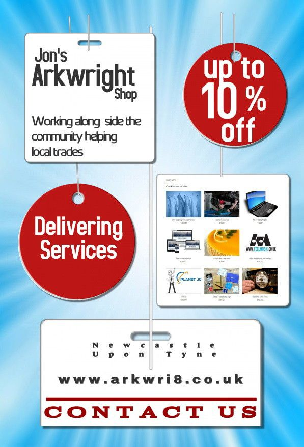 Jon's #Arkwright  shop is proud to be serving the community selling hard to find local services. #Arkwri8