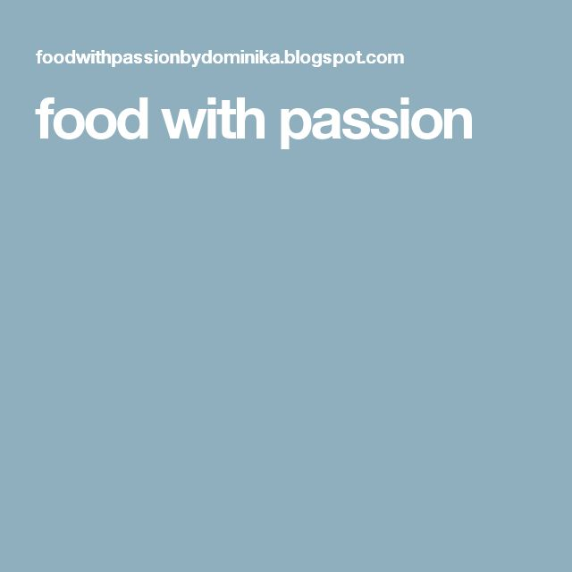 food with passion