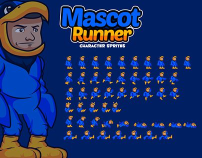 """Check out new work on my @Behance portfolio: """"Mascot Character Sprites"""" http://be.net/gallery/44608139/Mascot-Character-Sprites"""