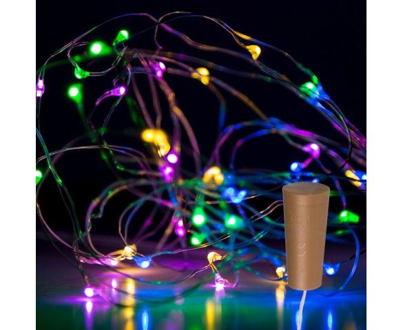 Wine Bottle Led Fairy Lights Cork Shaped Battery Operated Led Lights W Silver Wire 6 5ft Led Fairy Lights Battery Operated Led Lights Fairy Lights