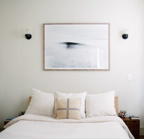 I Like The Bedroom To Remain As Calming Clean And Simple As Possible Like A Little Sanctuary From The Linens To The Artwork Kate Says