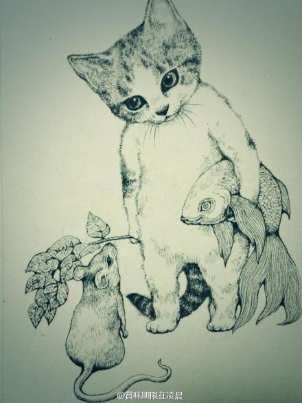 art cat by Yuko Higuchi
