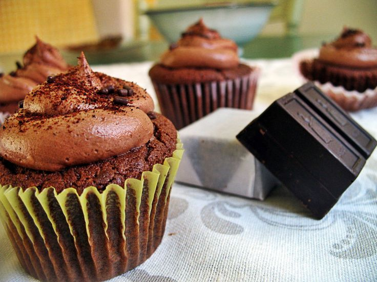 "Yet another Mexican hot cholate version  this one may be ""too"" spicy Xocolatl Cupcakes"