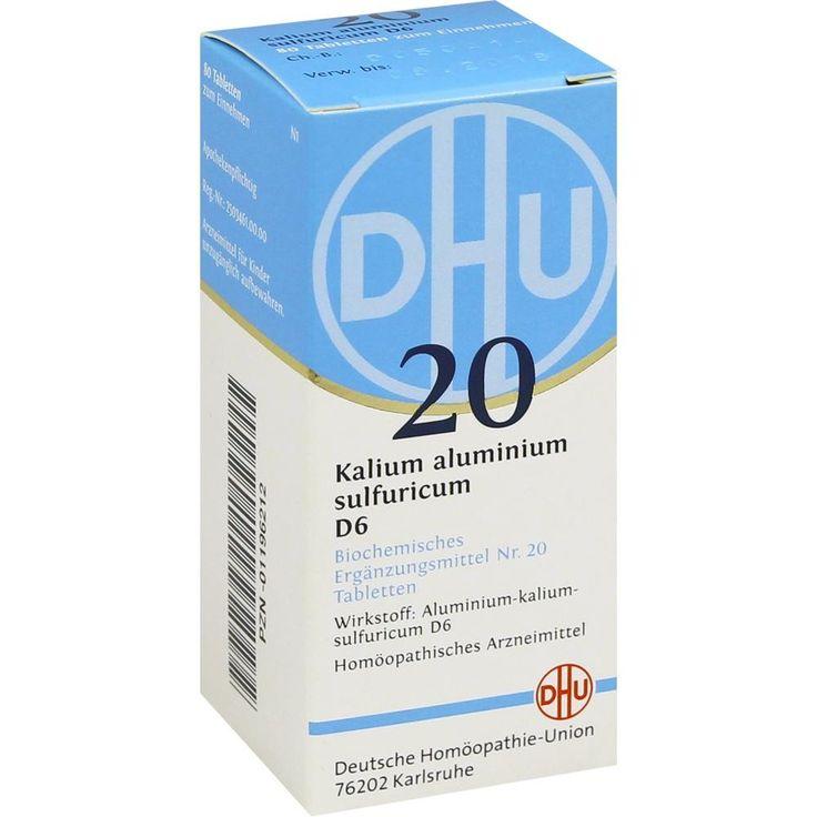 BIOCHEMIE DHU Schüssler Salz 20 Kalium alum. sulfur. D6 Tablette:   Packungsinhalt: 80 St Tabletten PZN: 01196212 Hersteller:…