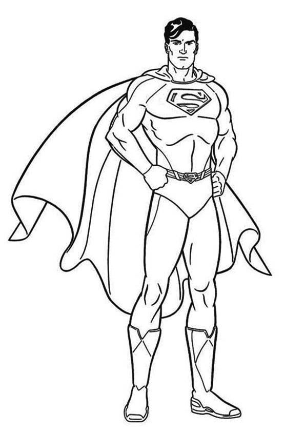 Superman Coloring Page For Kids Desenhos Para Criancas Colorir Desenhos Infantis Para Pintar Superman Desenho