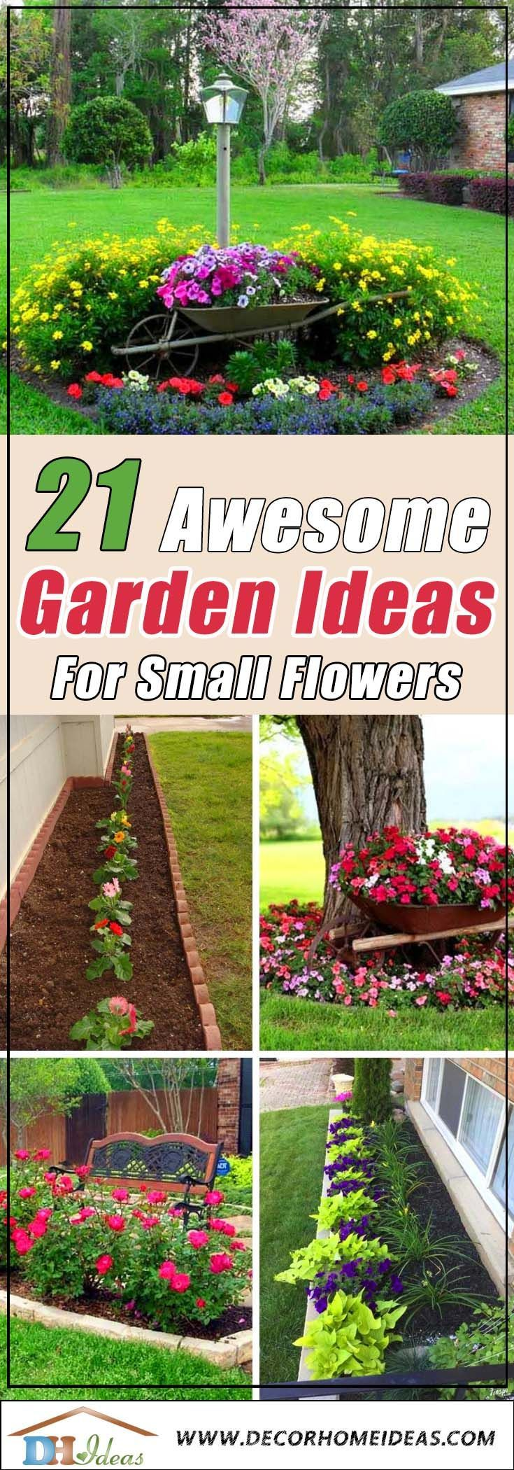 21 Awesome Garden Ideas For Small Flowers Awesome Flowers Garden Ideas Small In 2020 Small Flower Gardens Backyard Flowers Garden Small Gardens Backyard flower garden ideas