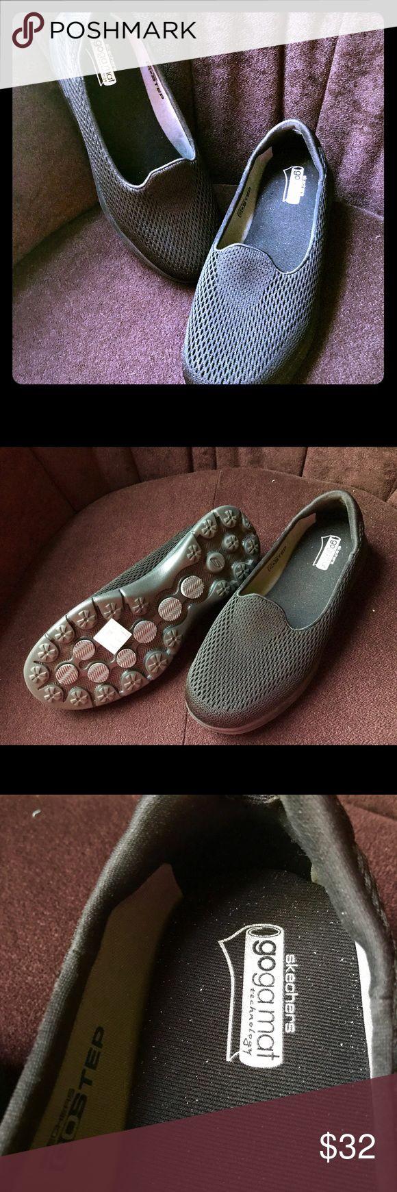 Black Skechers Goga Mat shoes Super comfy black Skechers Goga Mat shoes.  Never worn - NWOT Skechers Shoes Sneakers