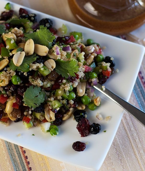 Quinoa Salad With a Curried Balsamic Dressing (and a Giveaway) by Orgasmic Chef