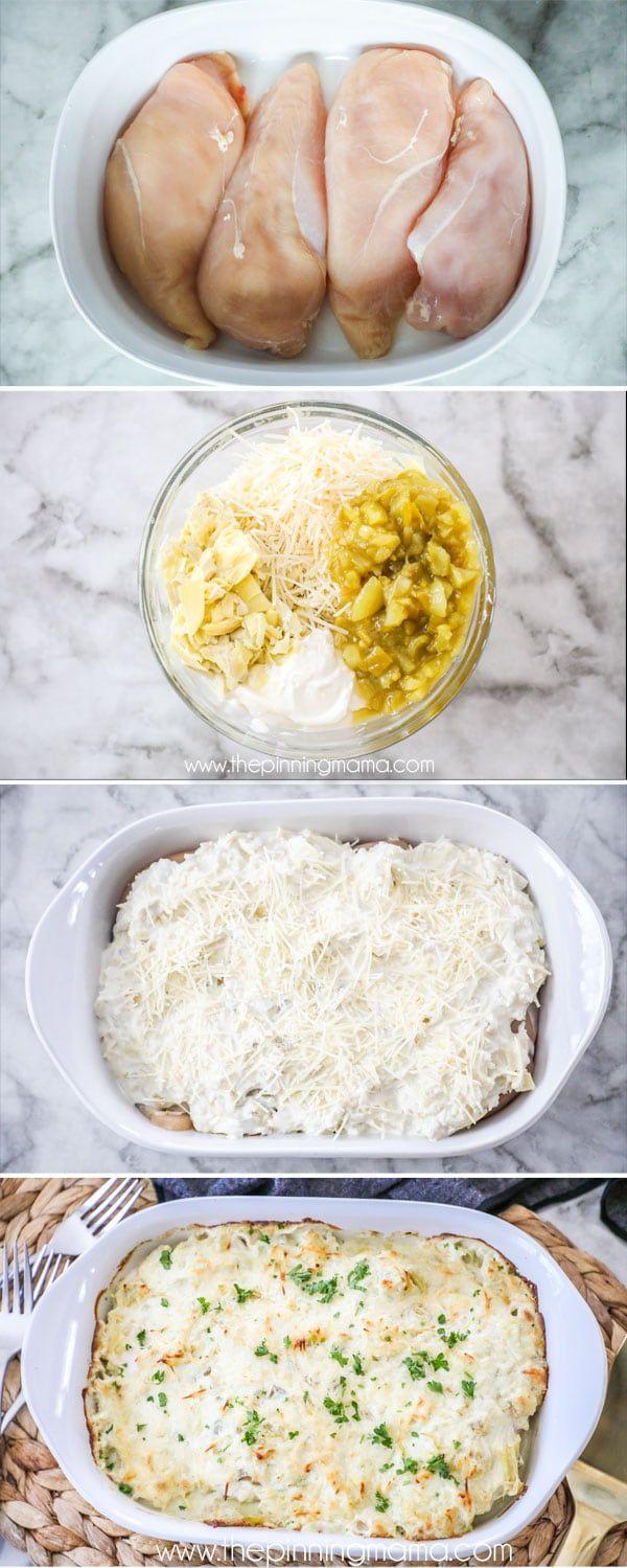 The BEST Artichoke Chicken recipe!  Simple and delcious.  #dinner #recipe #chicken