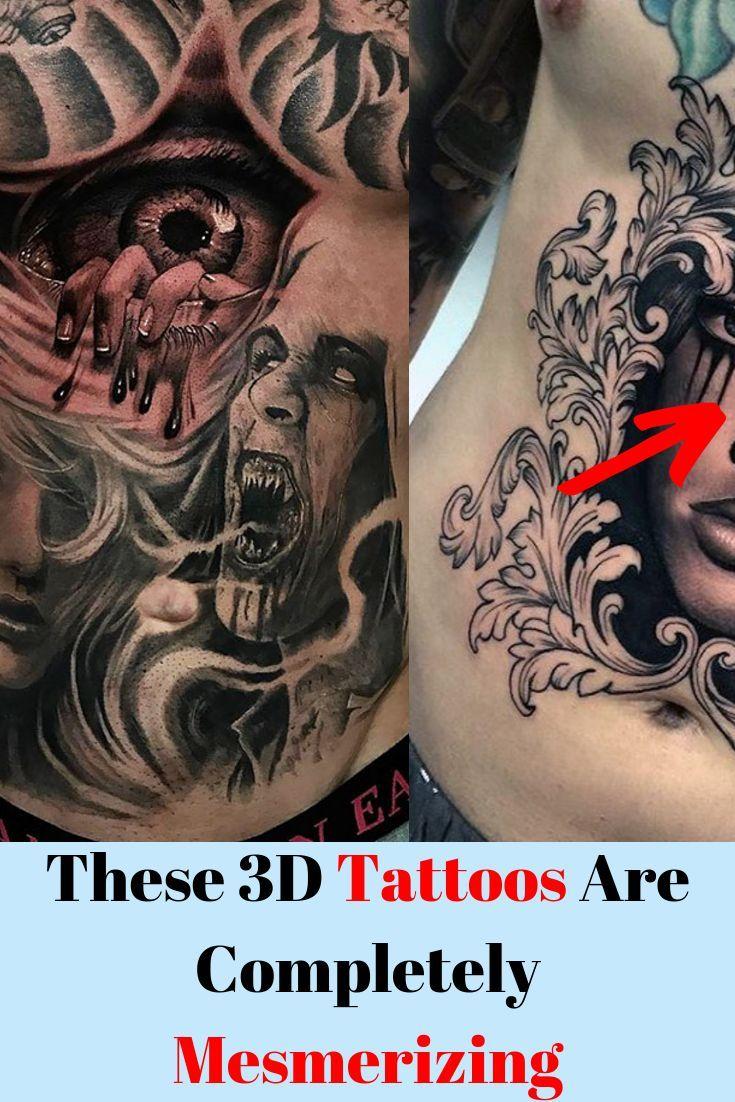 Diese 3d Tattoos Sind Absolut Faszinierend Awful 3dtattoos