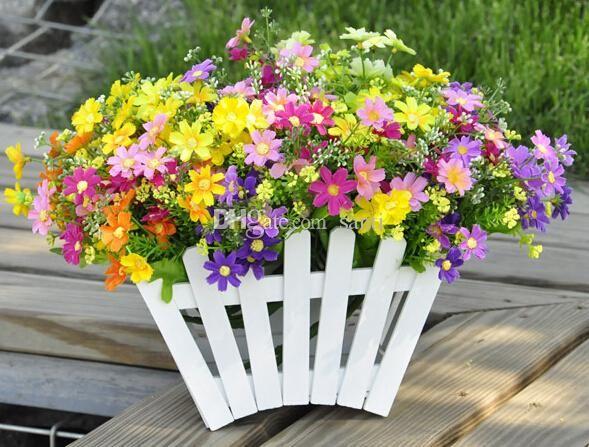 artificiale partito fiore margherita wedding decor dIY partito decorazioni di nozzeall'ingrosso