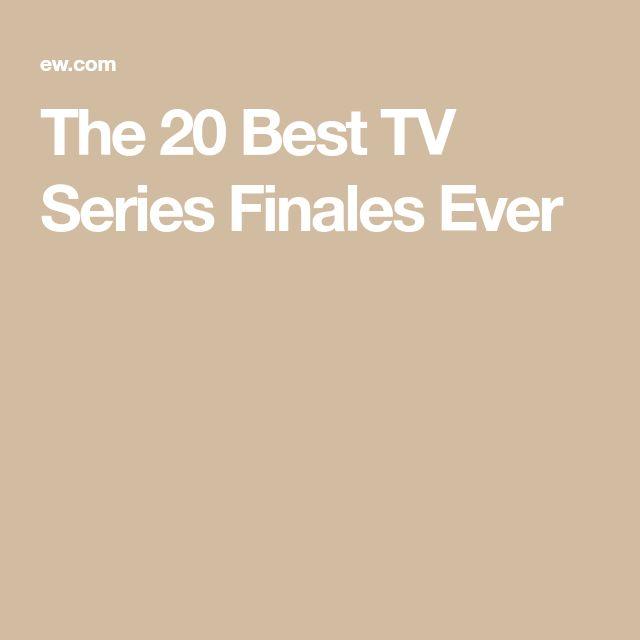 The 20 Best TV Series Finales Ever