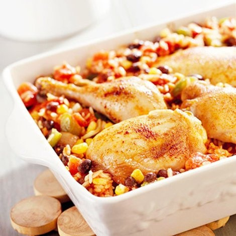 Black Beans and Rice This simple chicken casserole serves up smoky ...