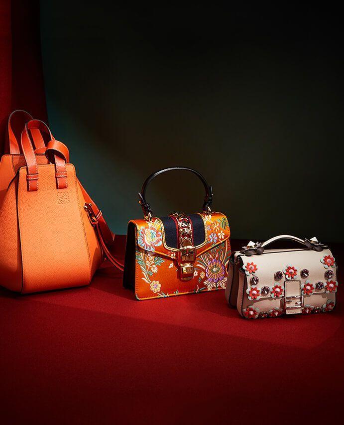 Three colourful purses