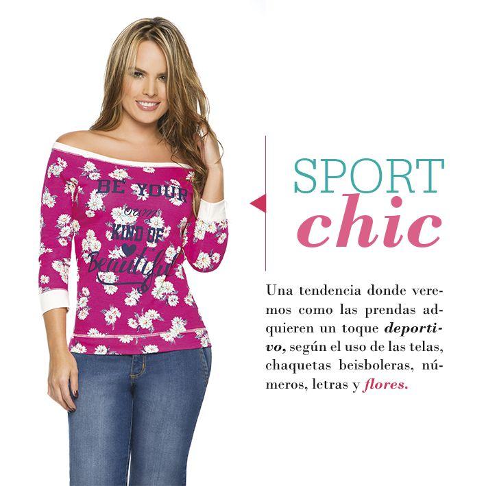 Dale un toque deportivo a tus prendas femeninas, atrévete a combinarlas con números y flores!!!