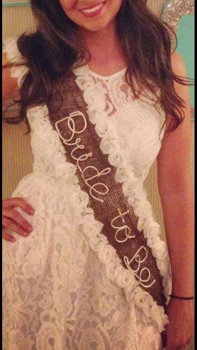 Cool bachelorette sash- country style