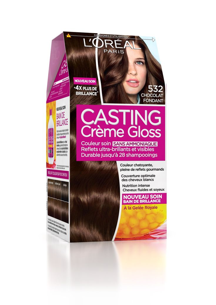 loral paris casting crme gloss 532 chocolat fondant test avec le club - Coloration Gloss Chocolat