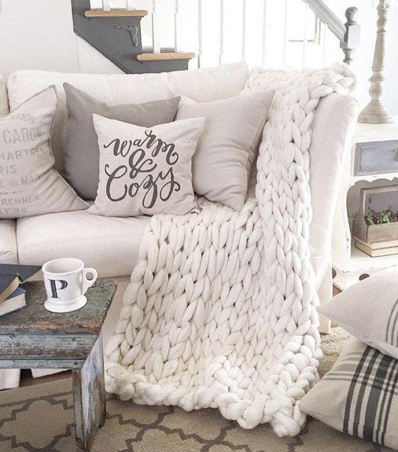 Best 20+ Chunky Knit Blankets Ideas On Pinterest