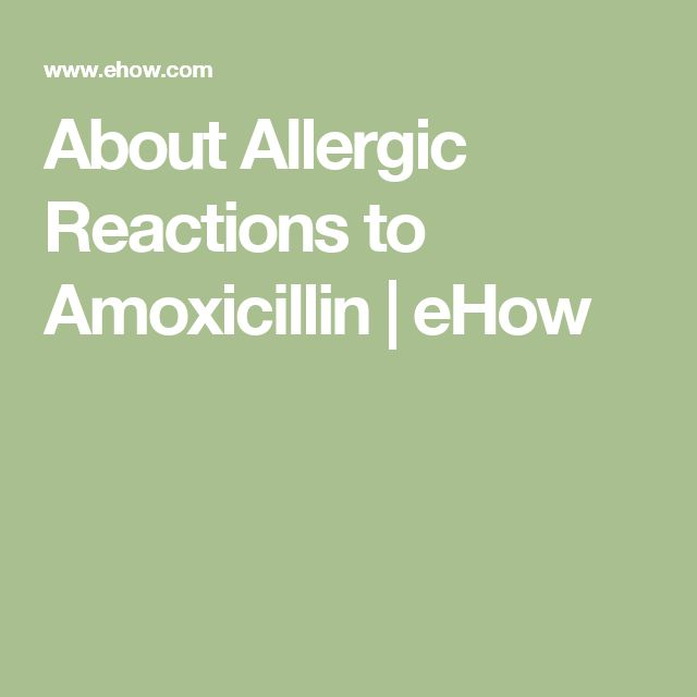About Allergic Reactions to AmoxicillinHealthy Living by Anna | Recipes, Fitness, Diets, etc.
