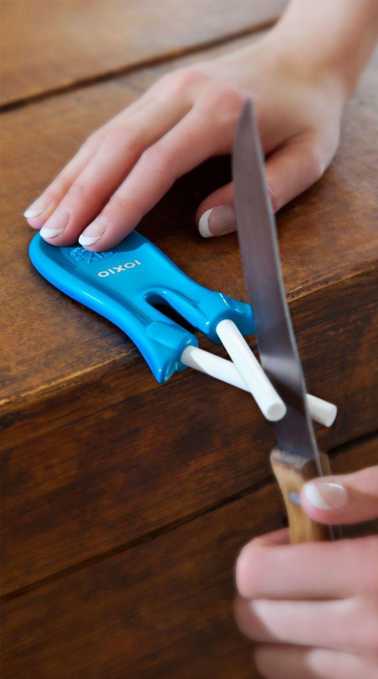 Ceramic knife sharpener. Easy to use | Keramik Messerschärfer. Einfache Handhabung | Afilador de cuchillos de cerámica. Fácil de usar | Céramique aiguiseur. Facile à utiliser