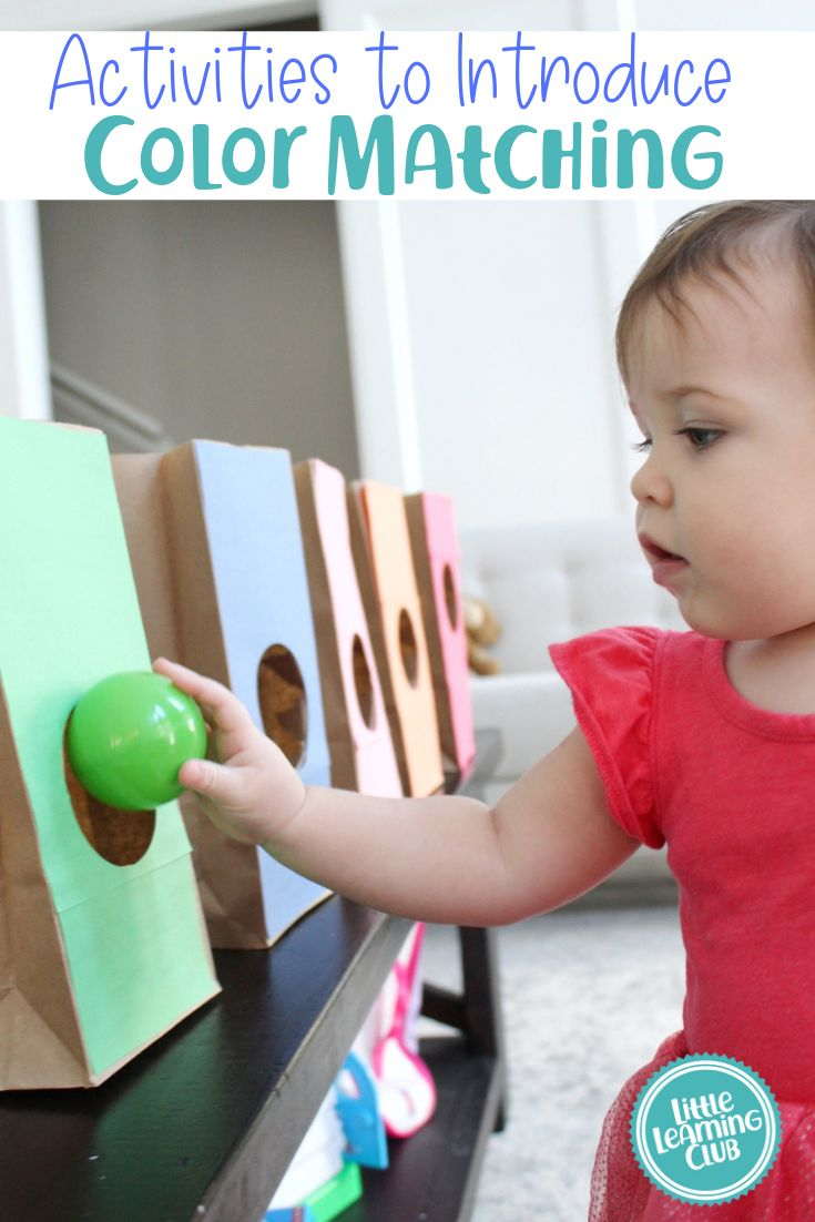 Activities to introduce color matching concepts to your toddler. Easy educational activities for at home, daycare or babysitting!