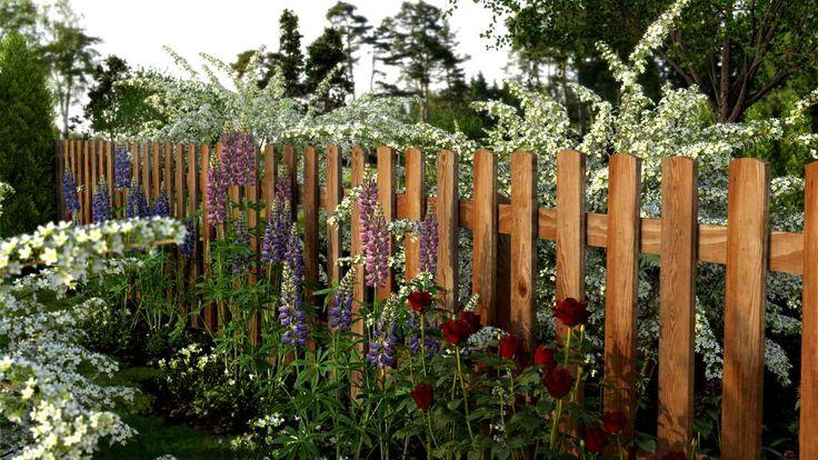 Конструкция забора и микроклимат в саду – это только часть проблемы, поскольку важен и внешний вид ограждения, которому тоже должно быть уделено