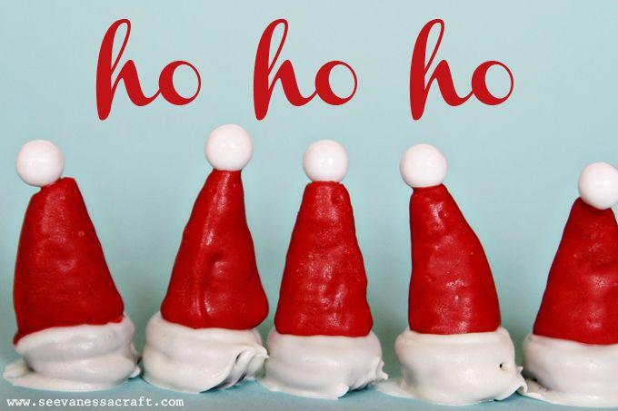 Edible Santa Hats: Christmas Food, Christmas Baking, Santa Hats, Christmas Decorations, 25 Days Of Christmas, November 25, Fast Christmas