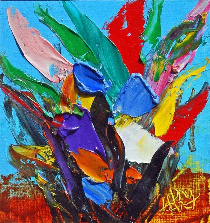 Pro Hart - 'Wild Flowers' - was one of Australia's most iconic artists.