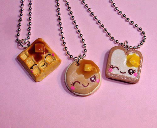 Cute polymer clay friendship necklaces!