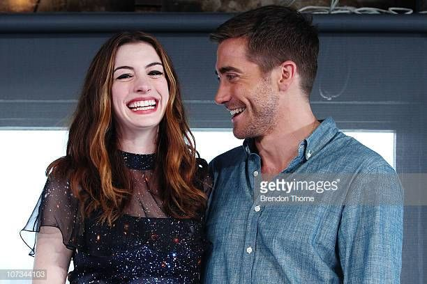 Actors Jake Gyllenhaal And Anne Hathaway Attend A Press Conference