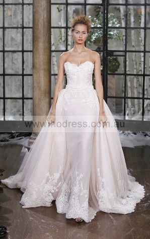 Sleeveless Backless Tulle Sweetheart Sheath Wedding Dresses gjcf1002--Hodress