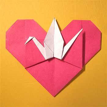 簡単 折り紙 折り紙でハートの作り方 : jp.pinterest.com