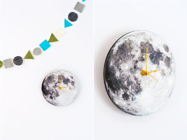 DIY Moon Clock   Hellobee